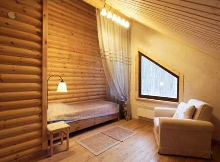 Как применить блок-хаус в интерьере дома, фото готовых работ
