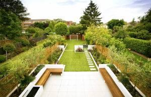 Ландшафтный дизайн дачного участка площадью 5 соток (48 фото): оформление узкого садового участка, расположение грядок на даче