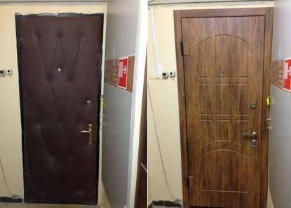 Реставрация входных дверей