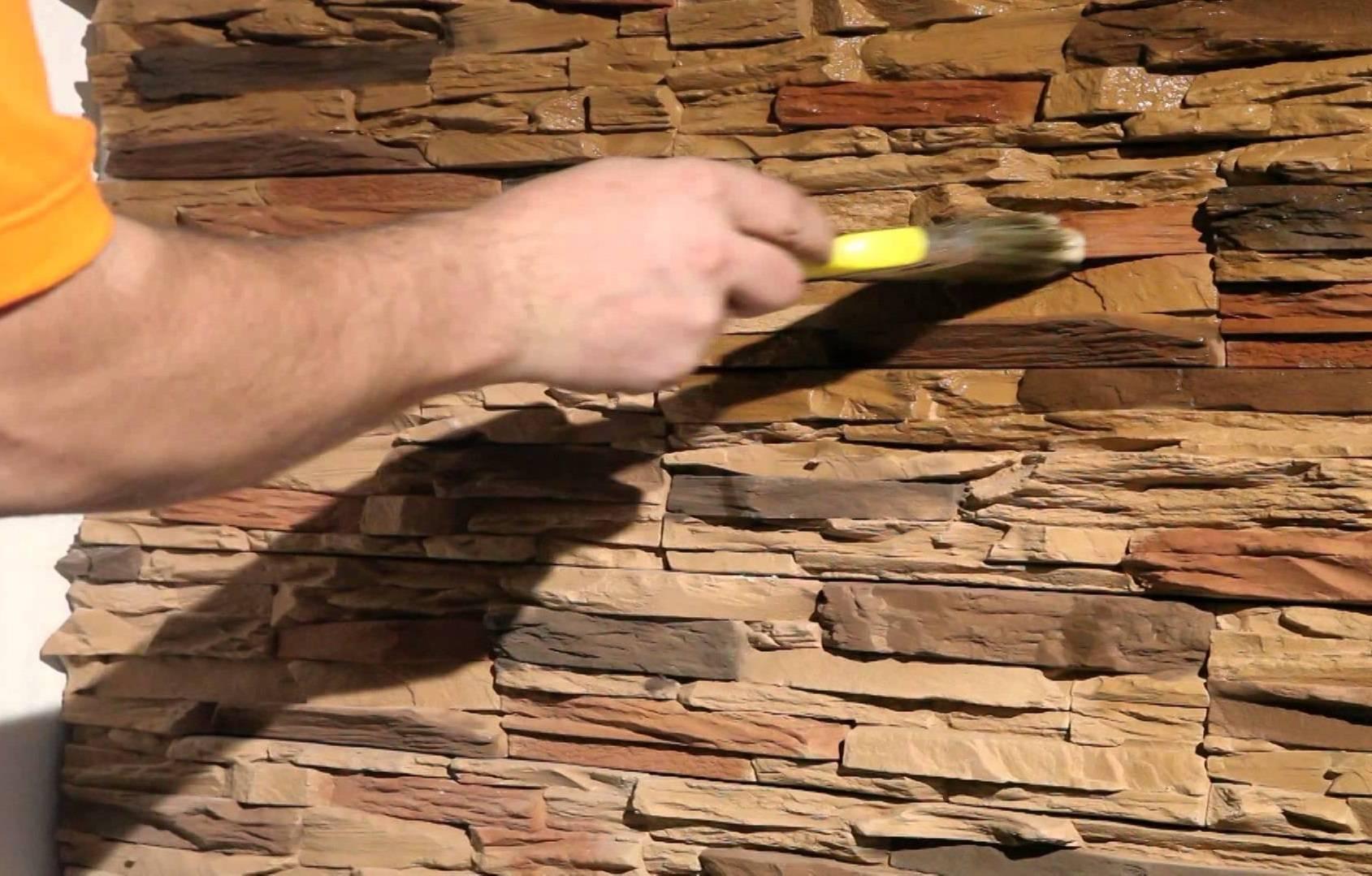 Лак для декоративного камня из гипса или гипсовой плитки