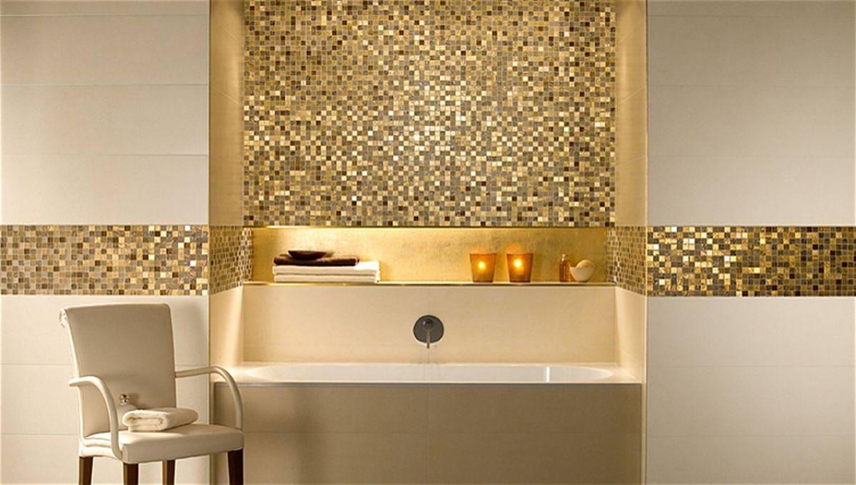 Плитка-мозаика для ванной: 100+ фото, идеи необычной отделки