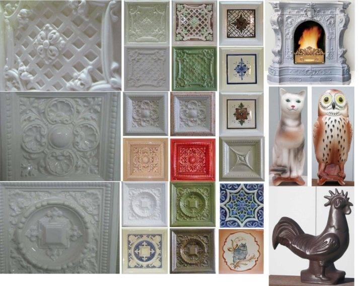 Изразцы для камина (50 фото): декор для печей в интерьере, как изготовить своими руками