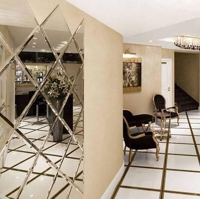 Зеркальная плитка в интерьере, 24 фото. красивые интерьеры и дизайн