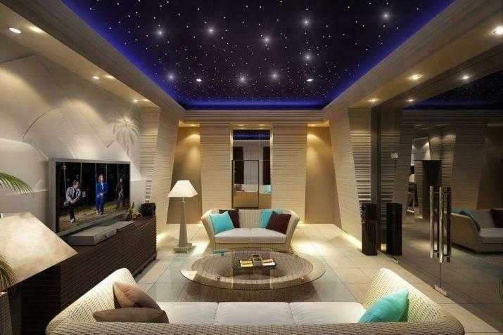 """Потолок """"звездное небо"""": 10 способов как сделать своими руками"""