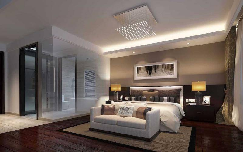 Потолок из гипсокартона в спальню фото решений