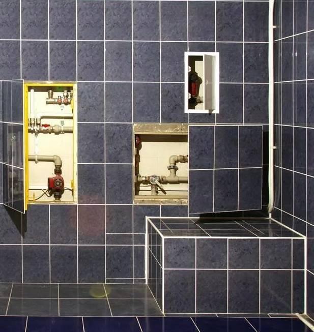 Люк для ванной комнаты под плитку: виды, размеры, установка