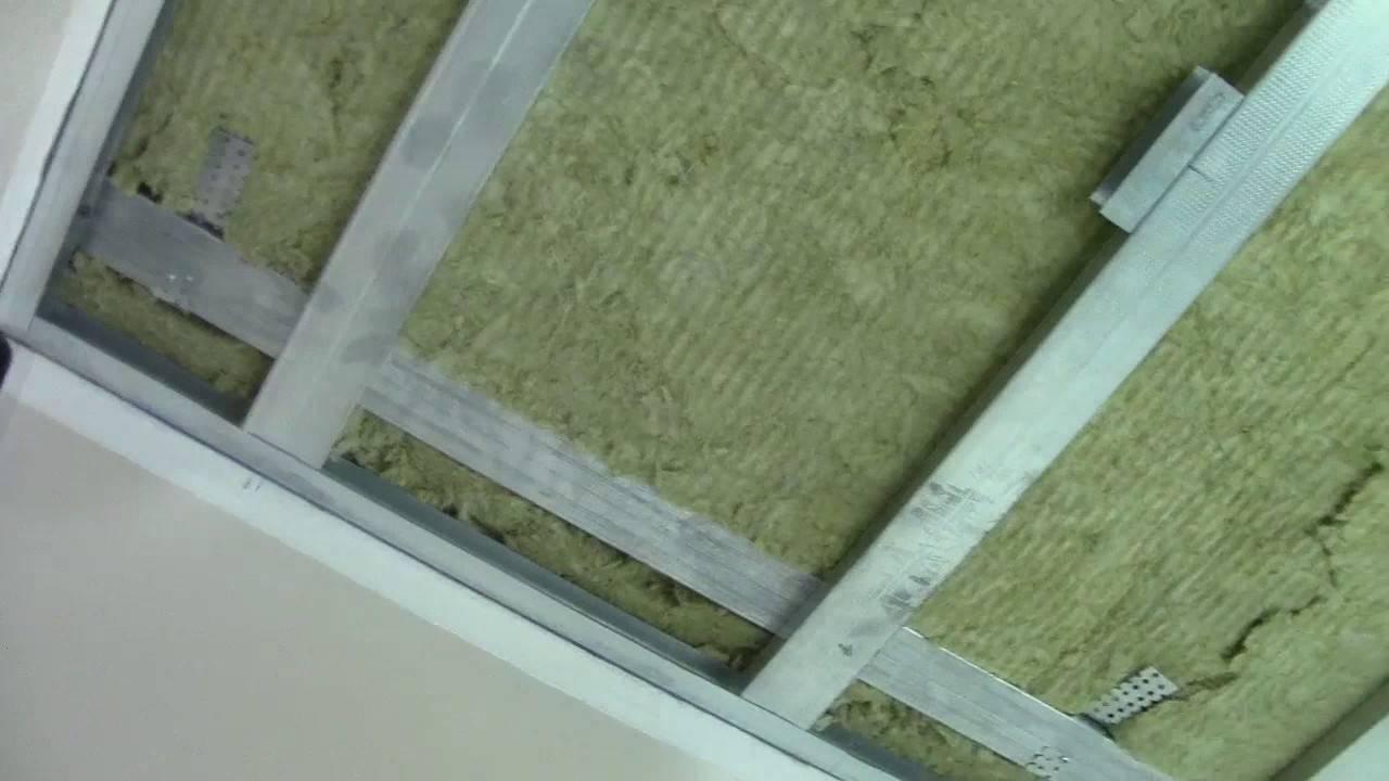 Крепление потолочных профилей для гипсокартона к потолку