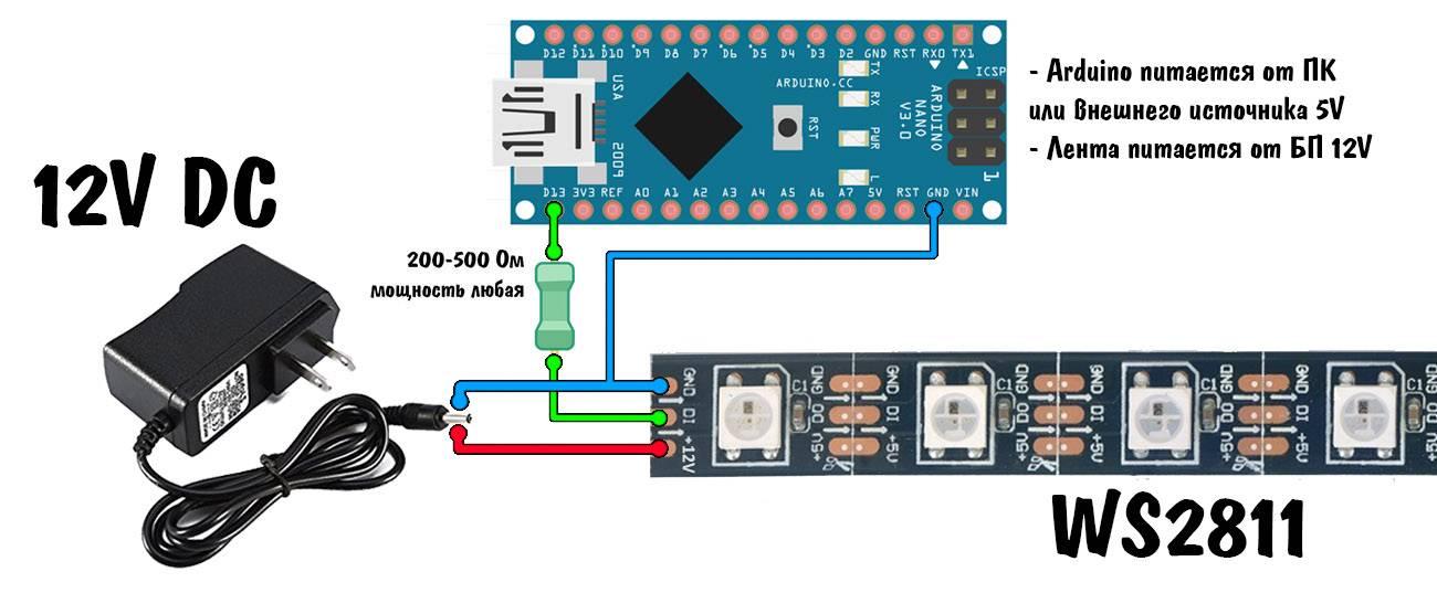 О светодиодных лентах 220в: схема сборки ленты, выбор драйвера и блока питания