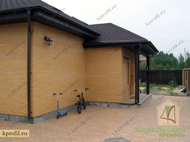 Облицовка каркасного дома кирпичом или клинкерной плиткой