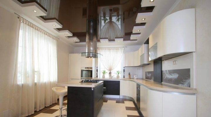 Точечные светильники на кухне: расположение в интерьера маленькой кухни с натяжным потолком
