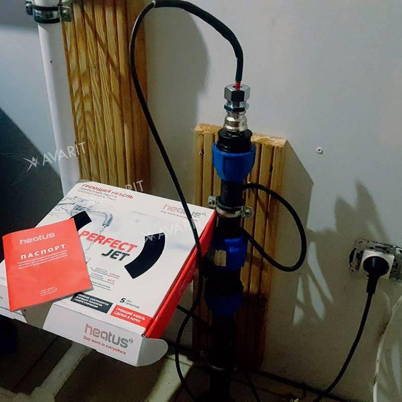 Как подключить греющий кабель для водопровода к сети своими руками