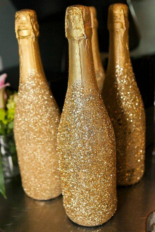 Украшение шампанского своими руками на новый год: новогодние поделки, декор, оформление и мастер-классы