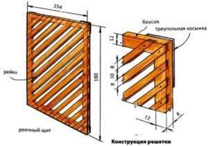 Деревянная решетка для беседки