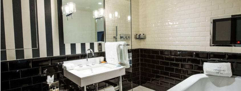 Черно белая ванная комната - дизайн и фото примеров на стройпомощник