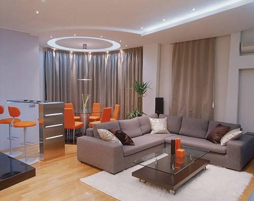 Дизайн гостиной с эркером: как лучше оформить, идеи и примеры готовых решений