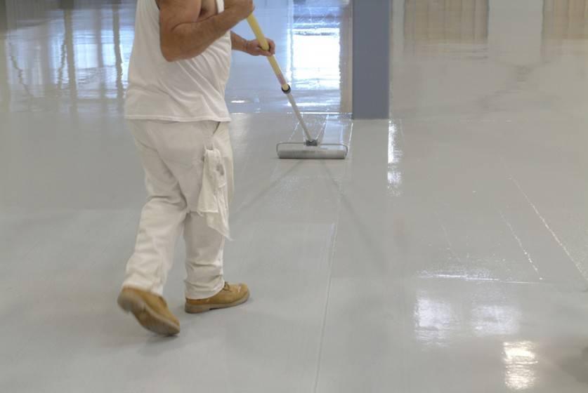 Эпоксидная краска для бетона: технология и применение