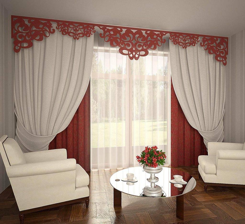Примеры оформления штор двух цветов в интерьере