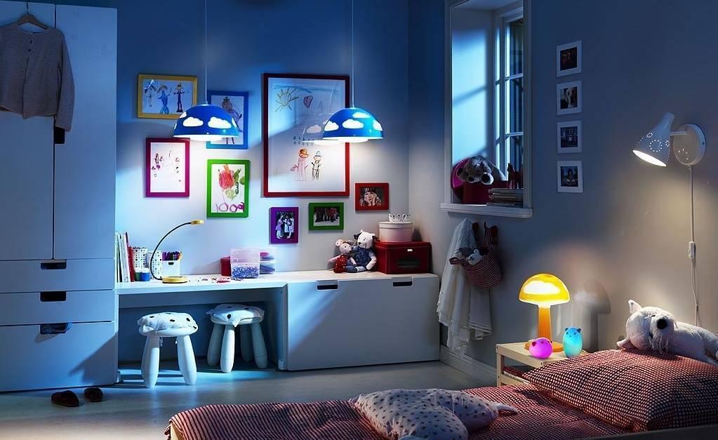 Правильное освещение в детской комнате (70 красивых фото)
