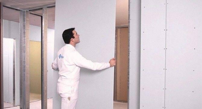 Как своими руками правильно сделать перегородку из гипсокартона с дверью или нишами, купе в стене или стену с проемом