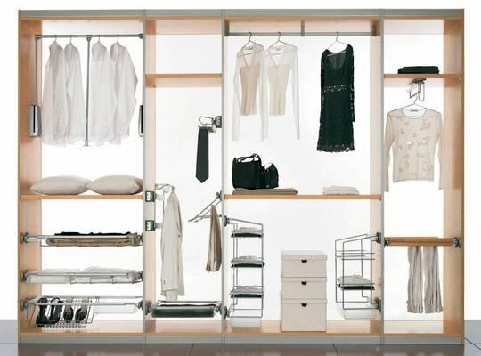 Обзор гардеробных систем для хранения вещей
