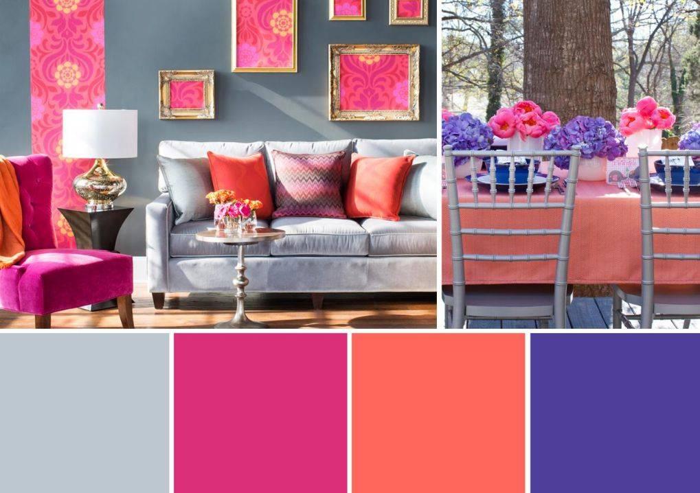 Сочетание цветов в интерьере [цветовой круг > таблица] + практика