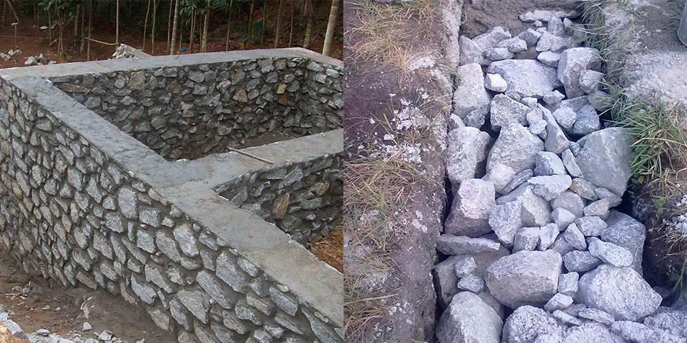 Как сделать фундамент из бутового камня своими руками