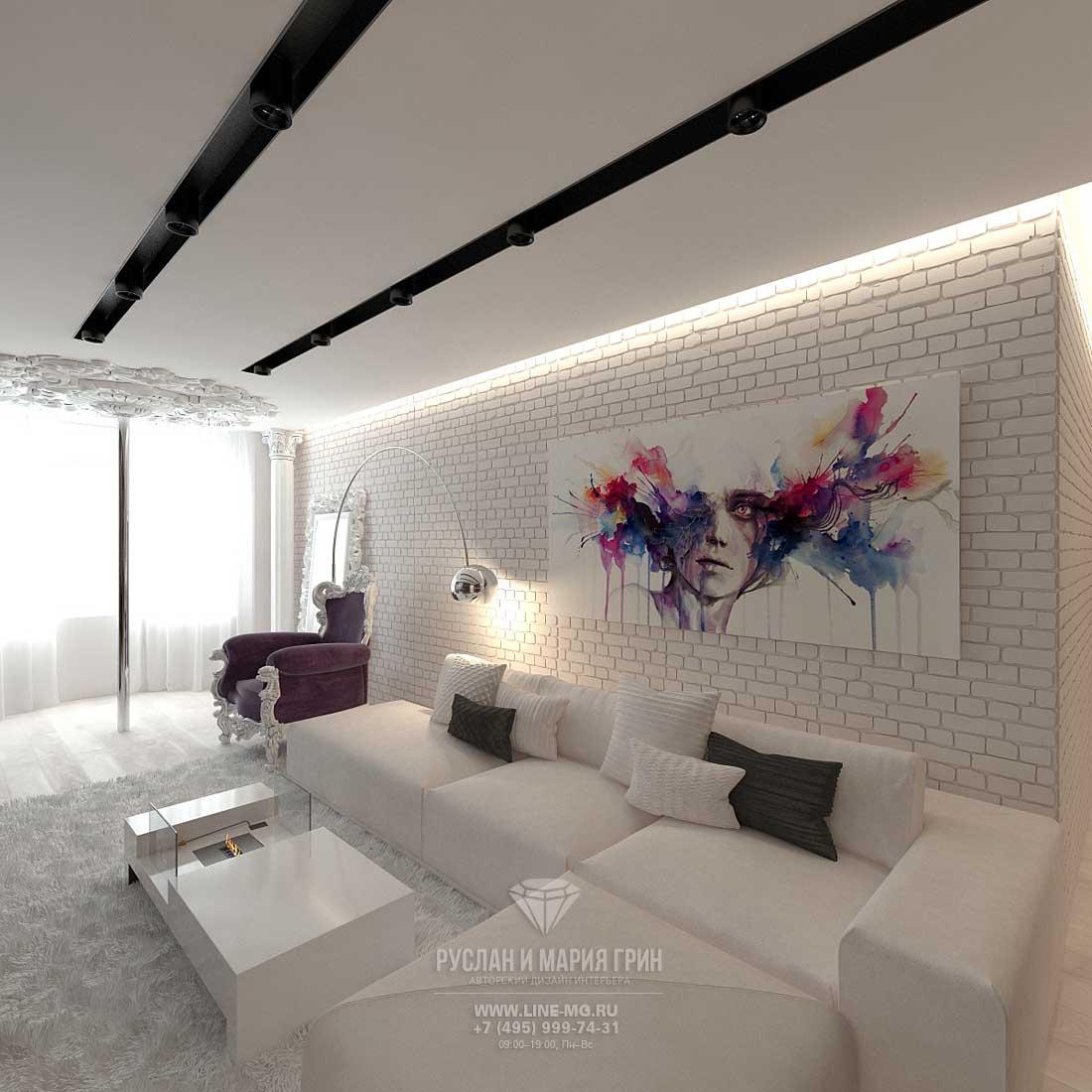 Черно-белая гостиная: особенности дизайна, реальные примеры в интерьере