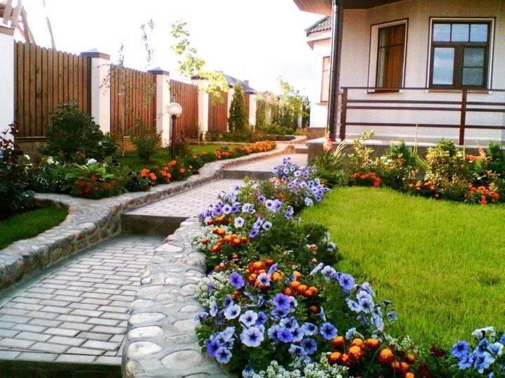 Дизайн двора частного дома своими руками (43 фото): как красиво оформить, простой ландшафтный дизайн в деревне