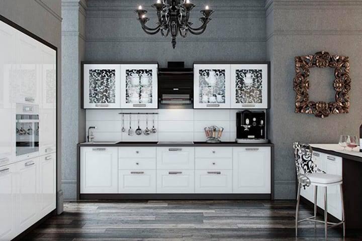 Кухни в стиле неоклассика: фото дизайнерских интерьеров + правила оформления
