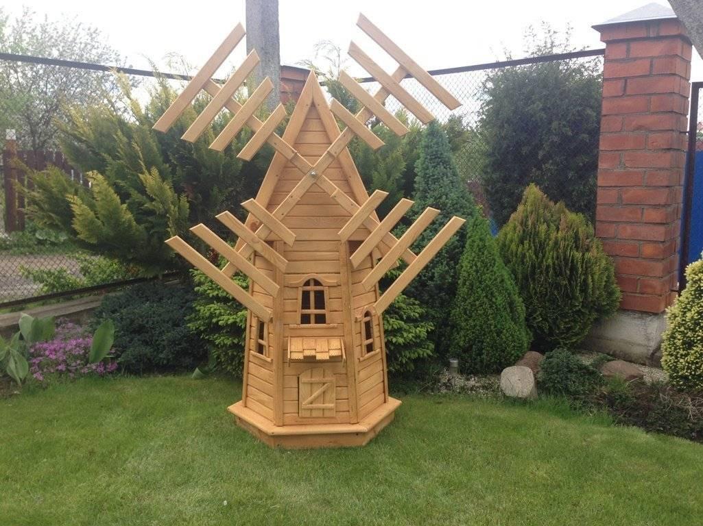 Декоративная мельница для сада своими руками: чертежи и виды, пошаговая инструкция