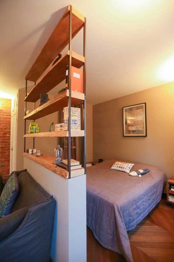 Идеи зонирования комнаты на спальню и гостиную