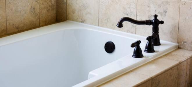 Врезной смеситель для акриловой ванны: варианты для джакузи из 3х предметов, кран на одно и на 3 отверстия, смеситель triton однопозиционный