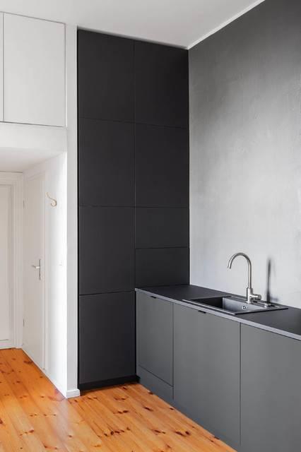 Красивый дизайн кухни без верхних шкафчиков, фото готовых вариантов