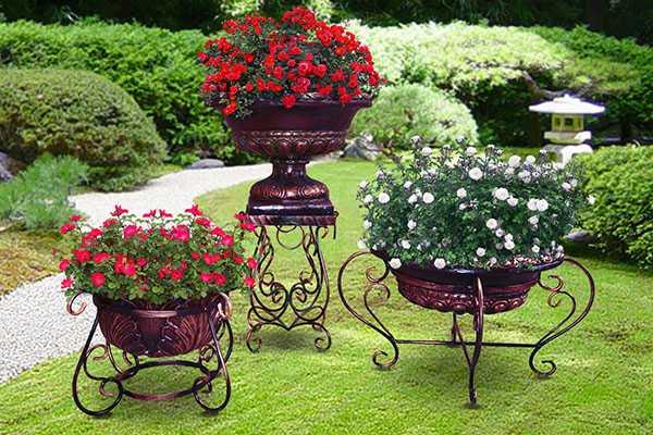 Красивые уличные вазоны для цветов своими руками