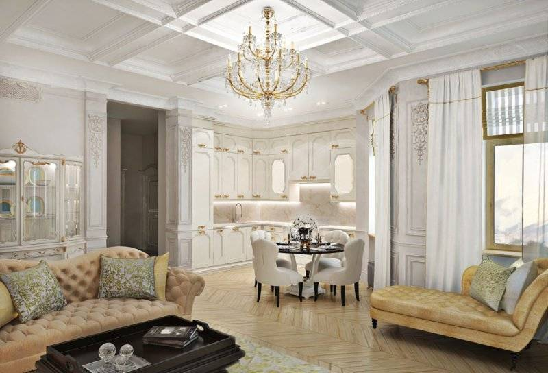 Стиль неоклассика в интерьере (95 фото) - идеи дизайна комнат, особенности стиля