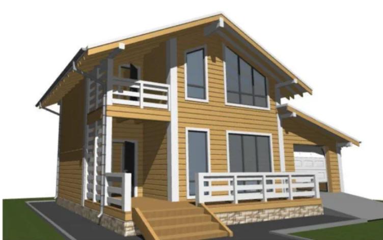 Проекты домов из бревна: оригинальные идеи для строительства