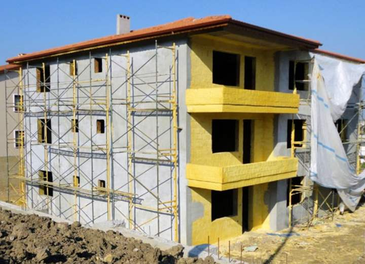 Монтаж вентилируемого фасада из керамогранита - xfasad.ru