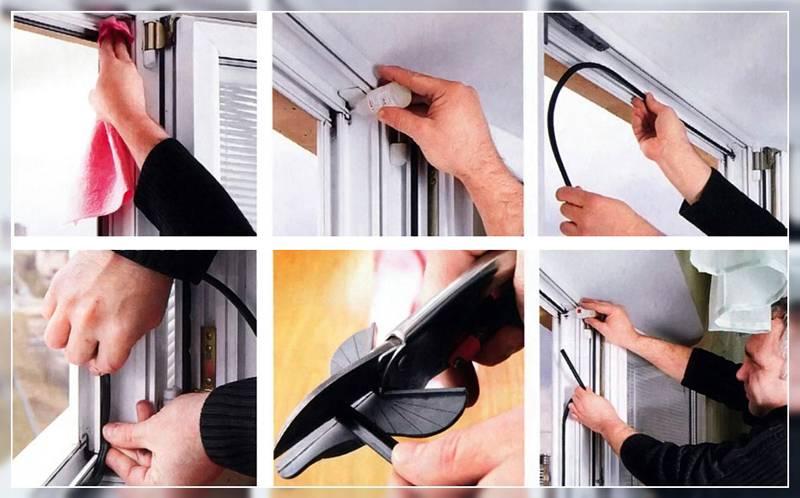 Замена резинок на пластиковых окнах легко своими руками