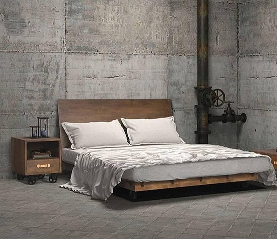 Спальня в стиле «лофт» (97 фото): дизайн и оформление интерьера маленькой современной спальни в стиле лофт