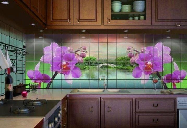 Плитка для кухни на фартук: фото идей, укладка мозаики, гжель, кабанчик и другие виды