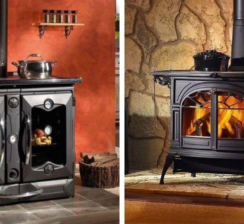 Печь-камин для загородного дома (109 фото): печка с водяным контуром отопления для дачи, котел и его топка