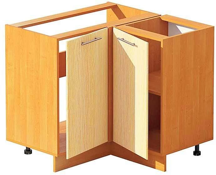 Угловой шкаф под мойку на кухне: размеры, чертежи, фотографии