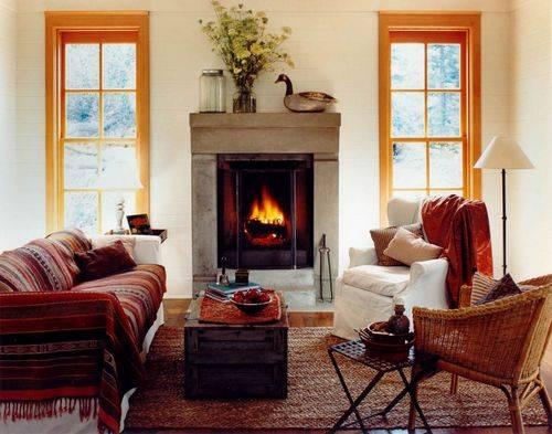 Камины в интерьере: тепло, комфортно, функционально