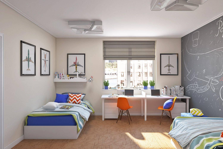 Дизайн детской комнаты для разнополых детей (90 фото)