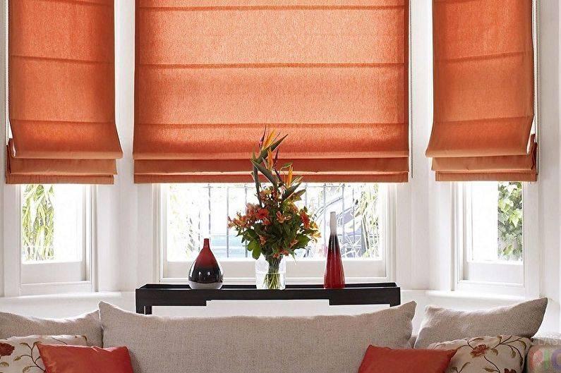 Римские шторы в интерьере - конструкция, типы, правила подбора по цвету и дизайну