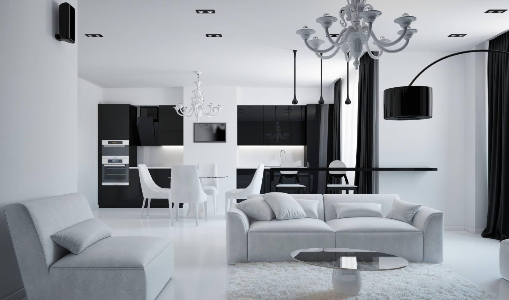 Кухня в стиле хай-тек: угловая, маленькая, кухня-гостиная, фото в интерьере