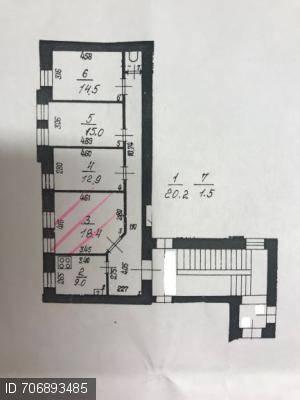 Планировка четырехкомнатной квартиры в 3D программе