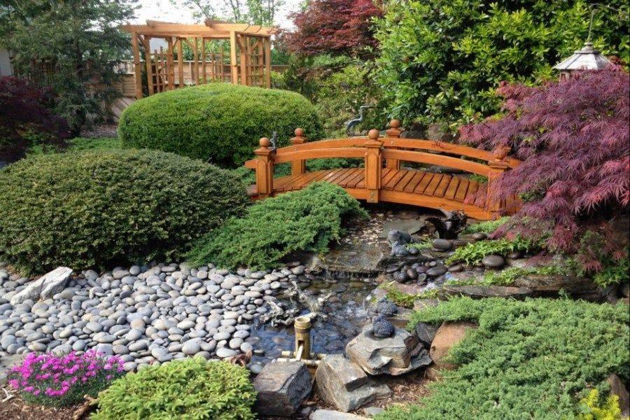 Декоративные мостики: описание мостиков для дачи через водоемы или сухую канаву, настилы из бревна и досок