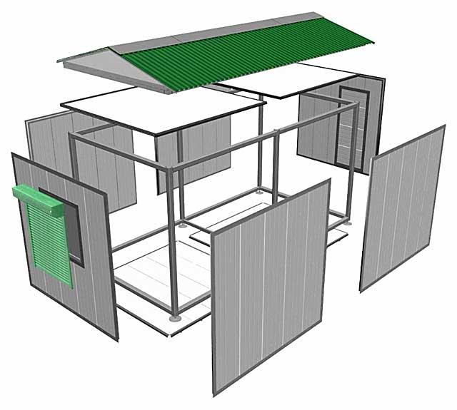 Металлический разборный гараж: железный и железобетонный гараж, технология сборки из металлоконструкций и жби