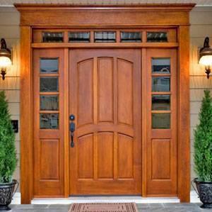 Утепление входных деревянных дверей